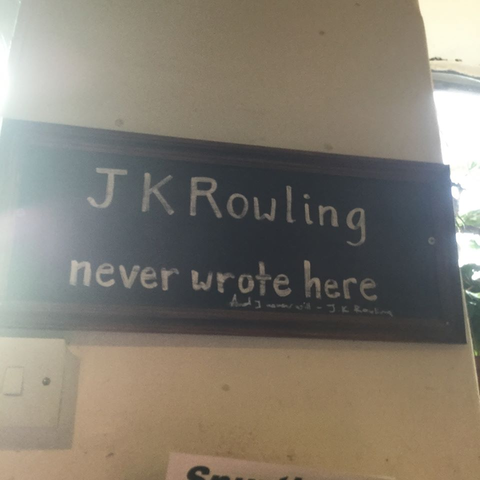 JK Rowling never wrote here
