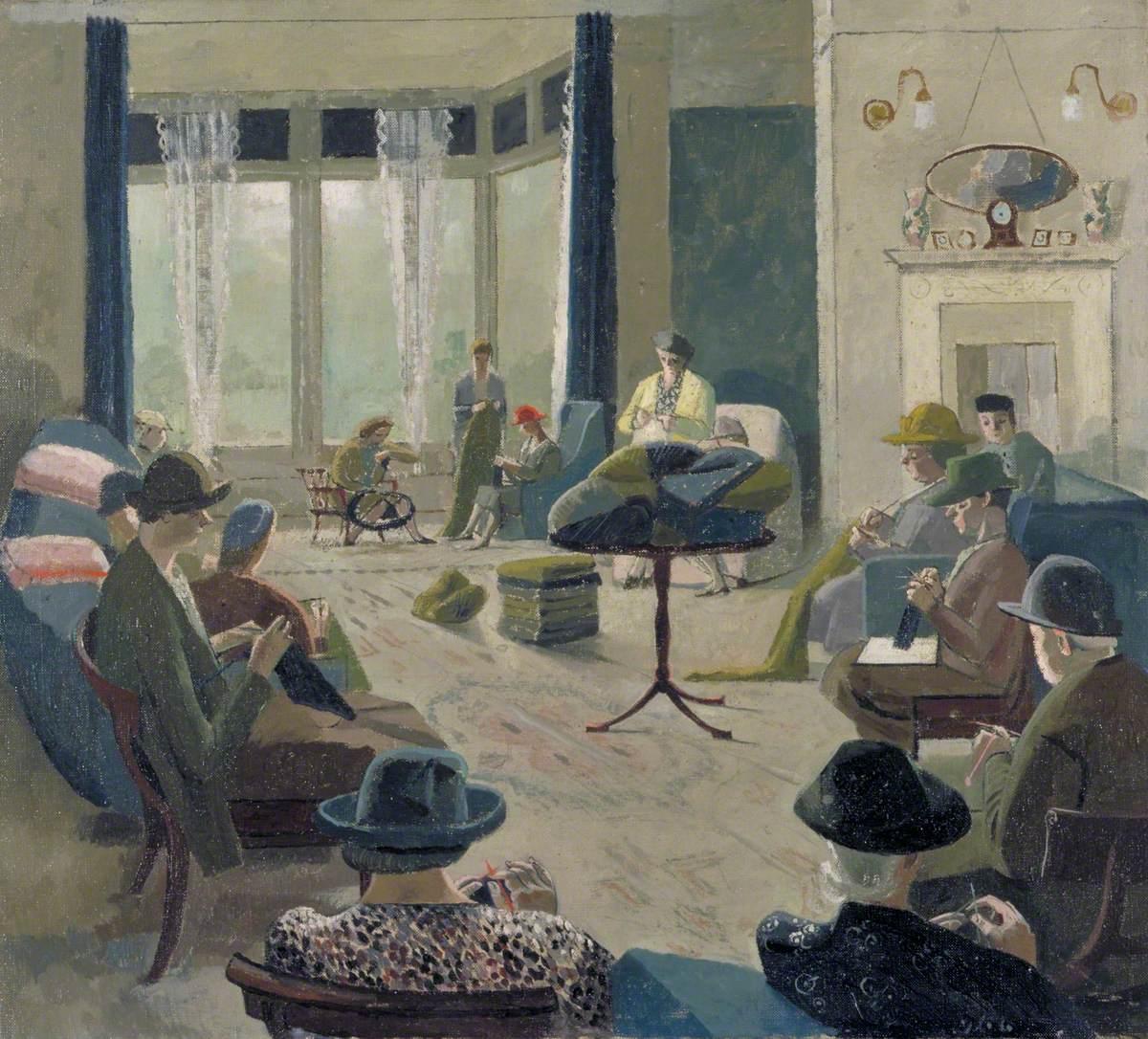 knittingparty1940evelyndunbar.jpg